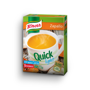 Sopa Quick light de Zapallo