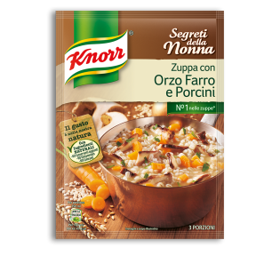 Zuppa con Orzo Farro e Porcini