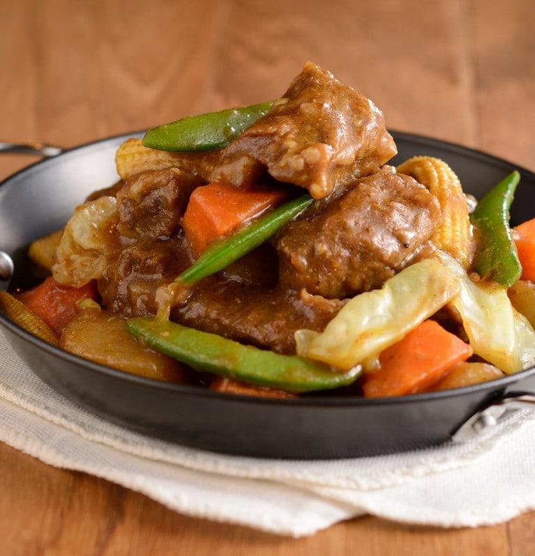 雜菜沙爹炆牛肋肉,家樂牌,菜譜,食譜