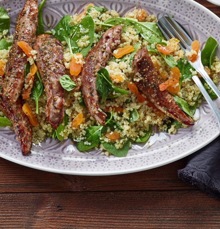 Lamm mit Aprikosen-Quinoa