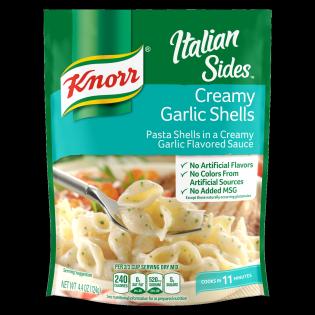 Creamy Garlic Shells